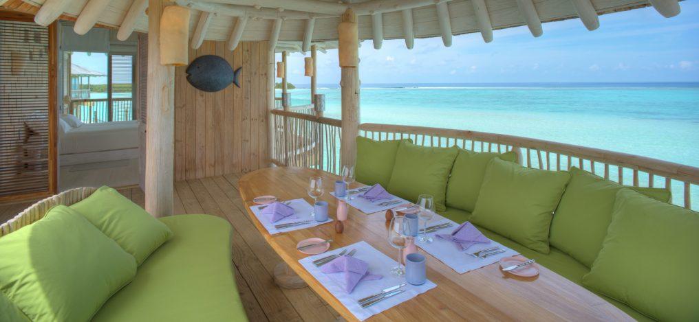 Soneva Jani Luxury Resort - Noonu Atoll, Medhufaru, Maldives - 2 Bedroom Water Retreat Villa Outdoor Dining Table