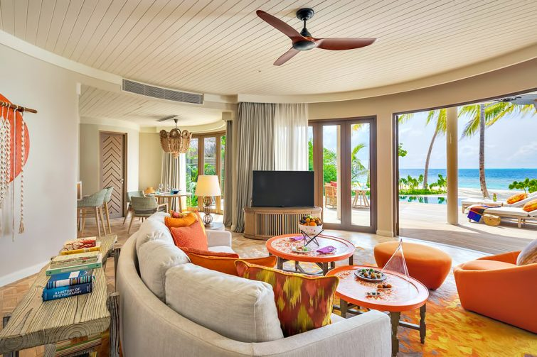 The Nautilus Maldives Luxury Resort - Thiladhoo Island, Maldives - Beach Residence Living Room
