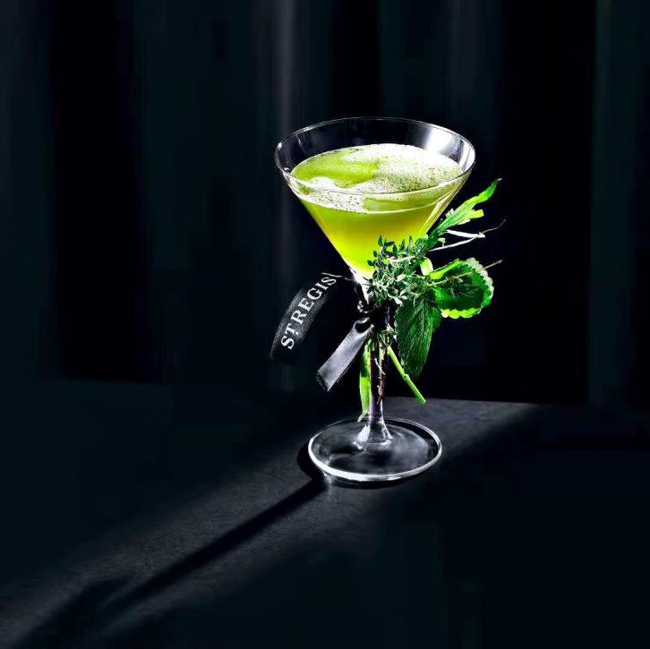 The St. Regis Shenzhen Luxury Hotel - Shenzhen, China - St. Regis Bar Lime Green Cocktail