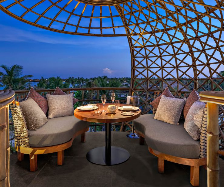 Waldorf Astoria Maldives Ithaafushi Luxury Resort - Ithaafushi Island, Maldives - Terra Restaurant Night