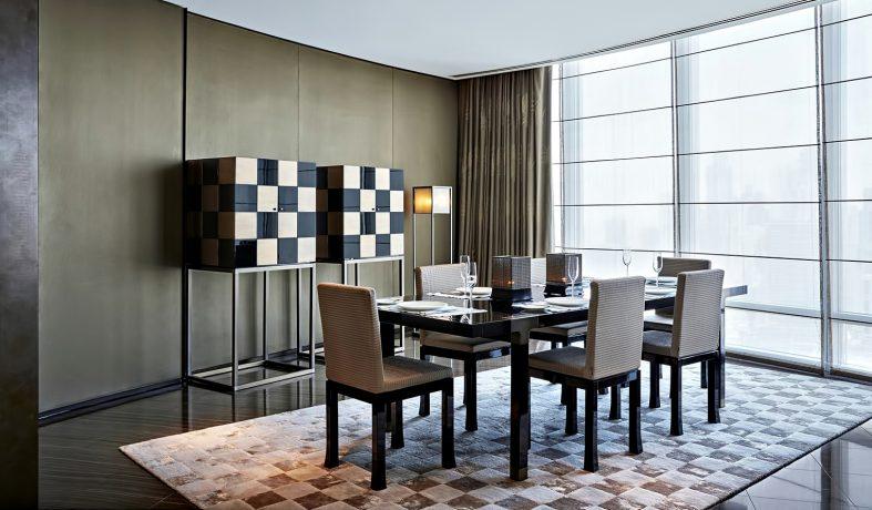 Armani Hotel Dubai - Burj Khalifa, Dubai, UAE - Armani Suite Dining Room