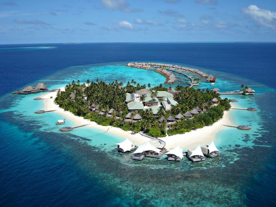 W Maldives Luxury Resort - Fesdu Island, Maldives - Resort Aerial View