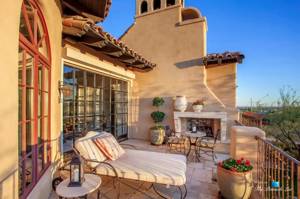 Spanish Colonial Biltmore Mountain Estate - 6539 N 31st Pl, Phoenix, AZ, USA - Master Bedroom Balcony