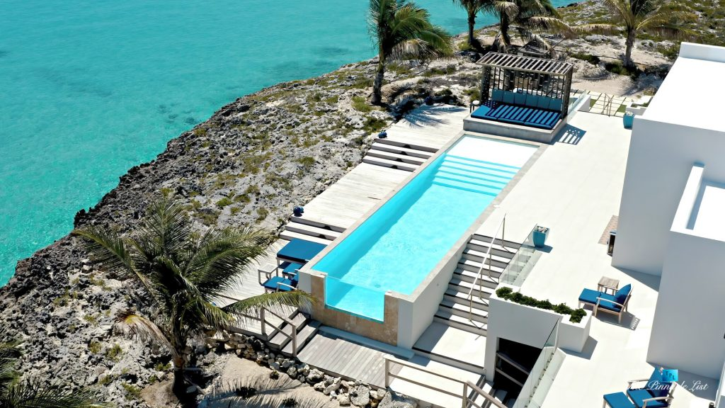 Tip of the Tail Luxury Villa - Providenciales, Turks and Caicos Islands - Infinity Pool Aerial View