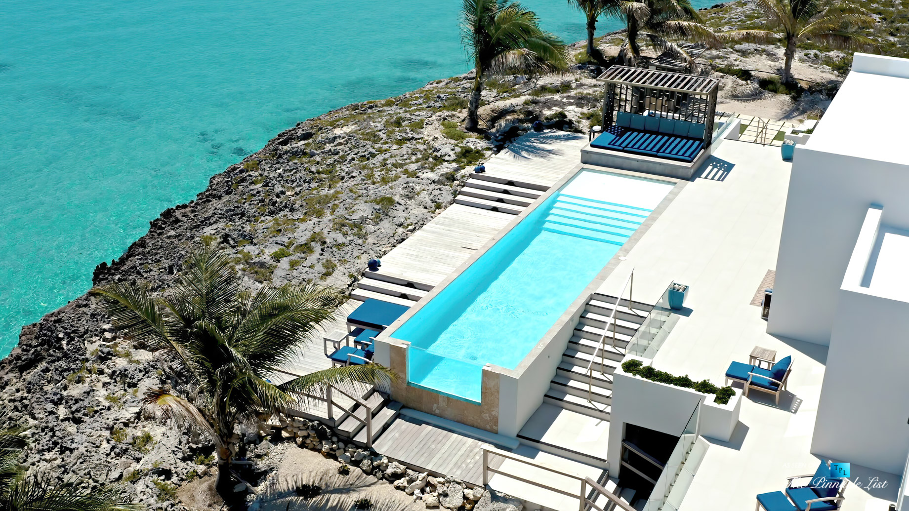 Tip of the Tail Luxury Villa – Providenciales, Turks and Caicos Islands – Infinity Pool Aerial View