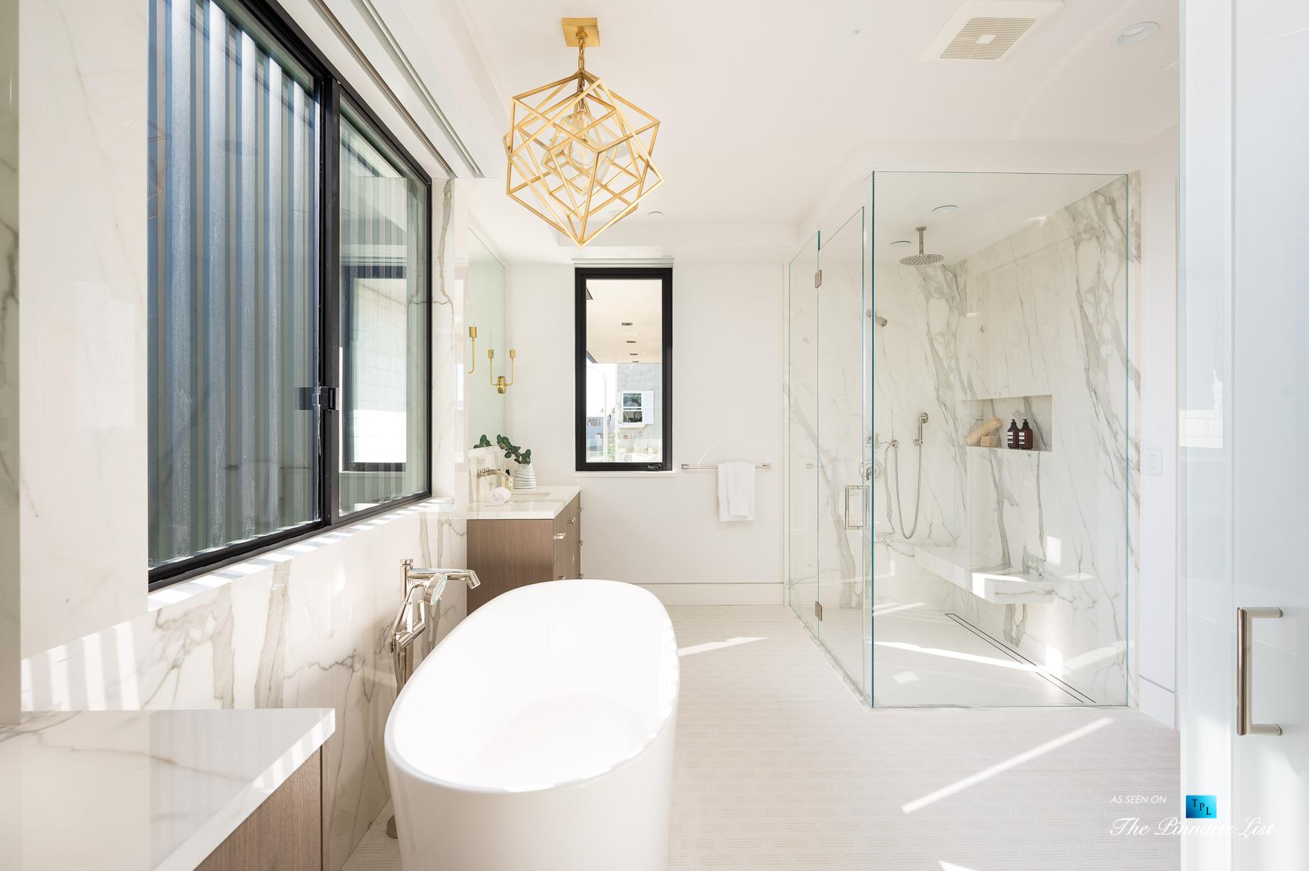 Ultra Modern Luxury Residence – 2016 Ocean Dr, Manhattan Beach, CA, USA – Master Bathroom