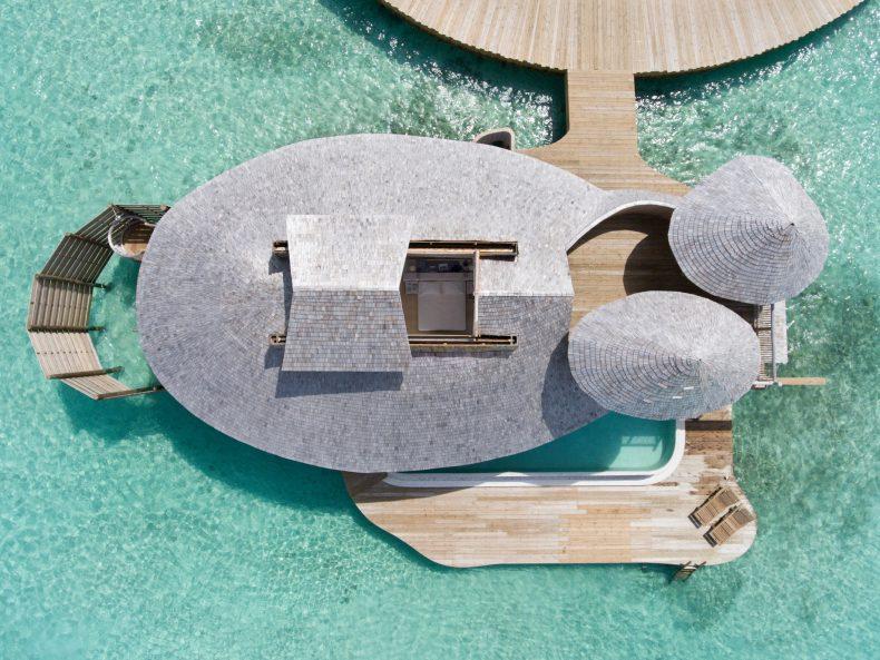 Soneva Jani Luxury Resort - Noonu Atoll, Medhufaru, Maldives - 1 Bedroom Water Retreat Villa Overhead Aerial