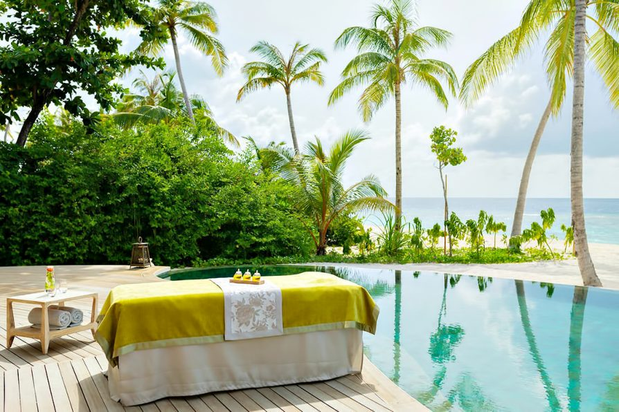 The Nautilus Maldives Luxury Resort - Thiladhoo Island, Maldives - Beach Residence Pool Massage