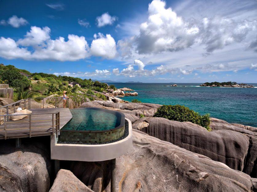 Six Senses Zil Pasyon Luxury Resort - Felicite Island, Seychelles - Spa Pool Ocean View