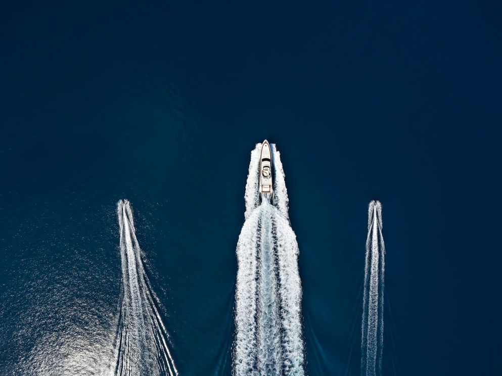 Cheval Blanc Randheli Luxury Resort - Noonu Atoll, Maldives - Azimut Yacht and Jet Ski Aerial