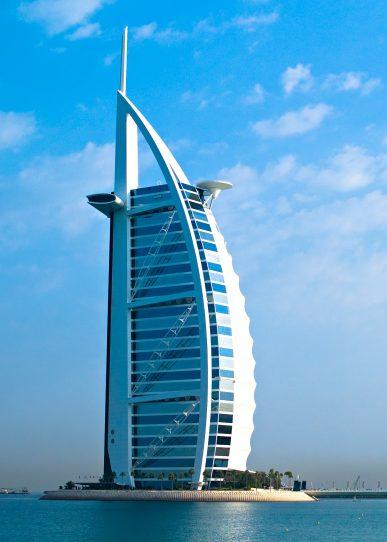 Burj Al Arab Luxury Hotel - Jumeirah St, Dubai, UAE - Tower View