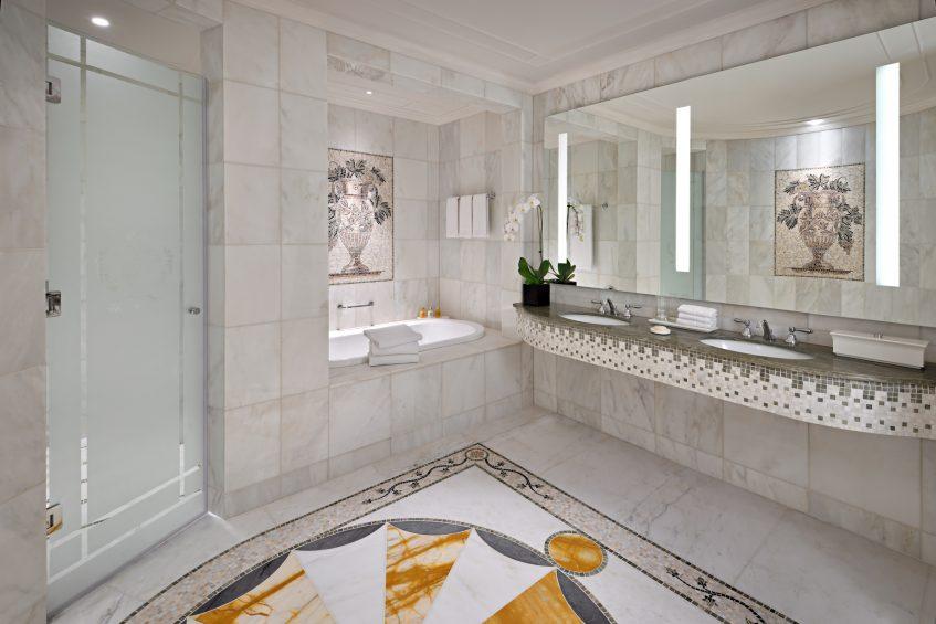 Palazzo Versace Dubai Hotel - Jaddaf Waterfront, Dubai, UAE - Permiere Versace Club Room Bathroom