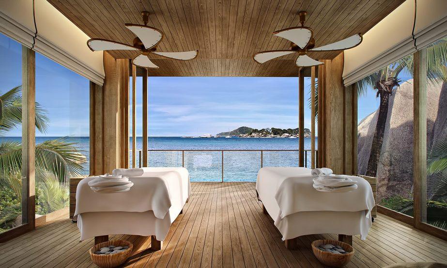Six Senses Zil Pasyon Luxury Resort - Felicite Island, Seychelles - Spa Treatment Villa Tables Ocean View