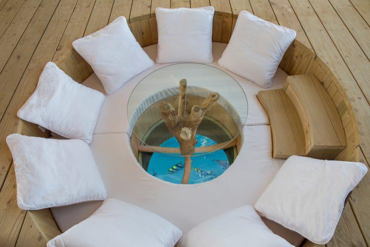 Soneva Jani Luxury Resort - Noonu Atoll, Medhufaru, Maldives - 1 Bedroom Water Retreat Villa Outdoor Overwater Lounge Table