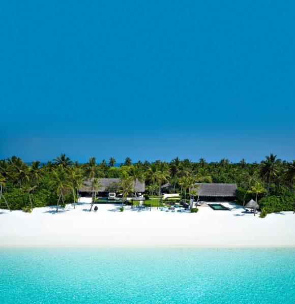 One&Only Reethi Rah Luxury Resort - North Male Atoll, Maldives - Grand Beach Villa Beachfront Aerial