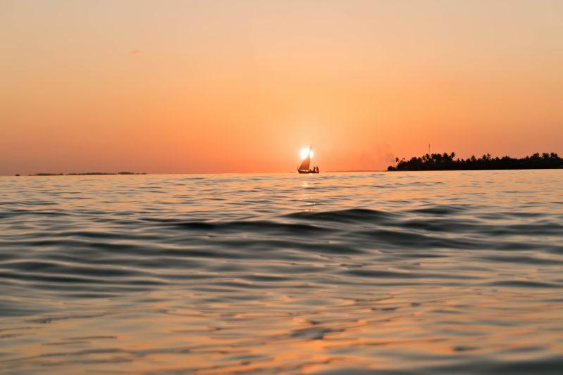 Six Senses Laamu Luxury Resort - Laamu Atoll, Maldives - Oceanview Sunset