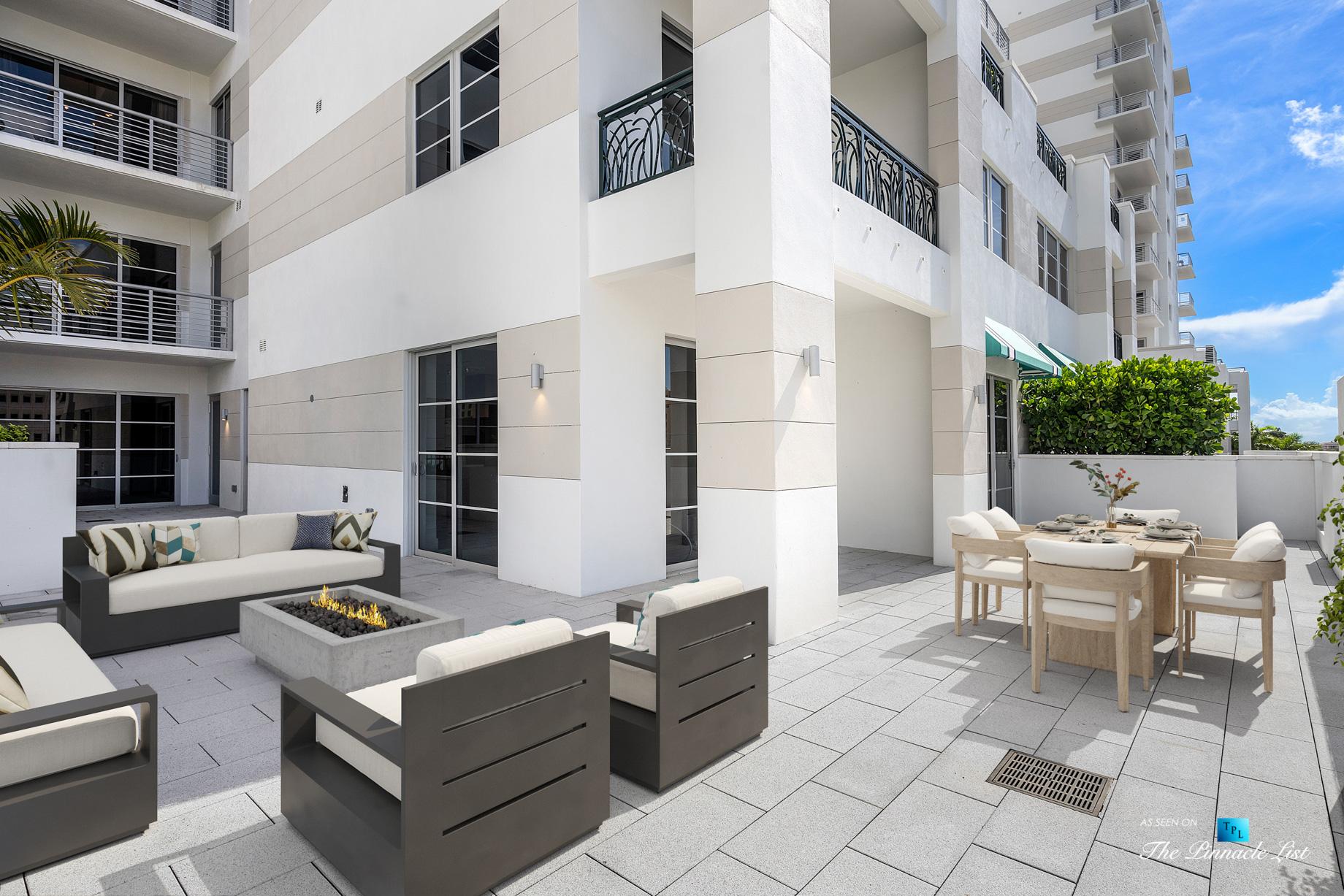 Boca Tower 155 Luxury Condo – Unit 416, 155 E Boca Raton Rd, Boca Raton, FL, USA – Private Outdoor Terrace