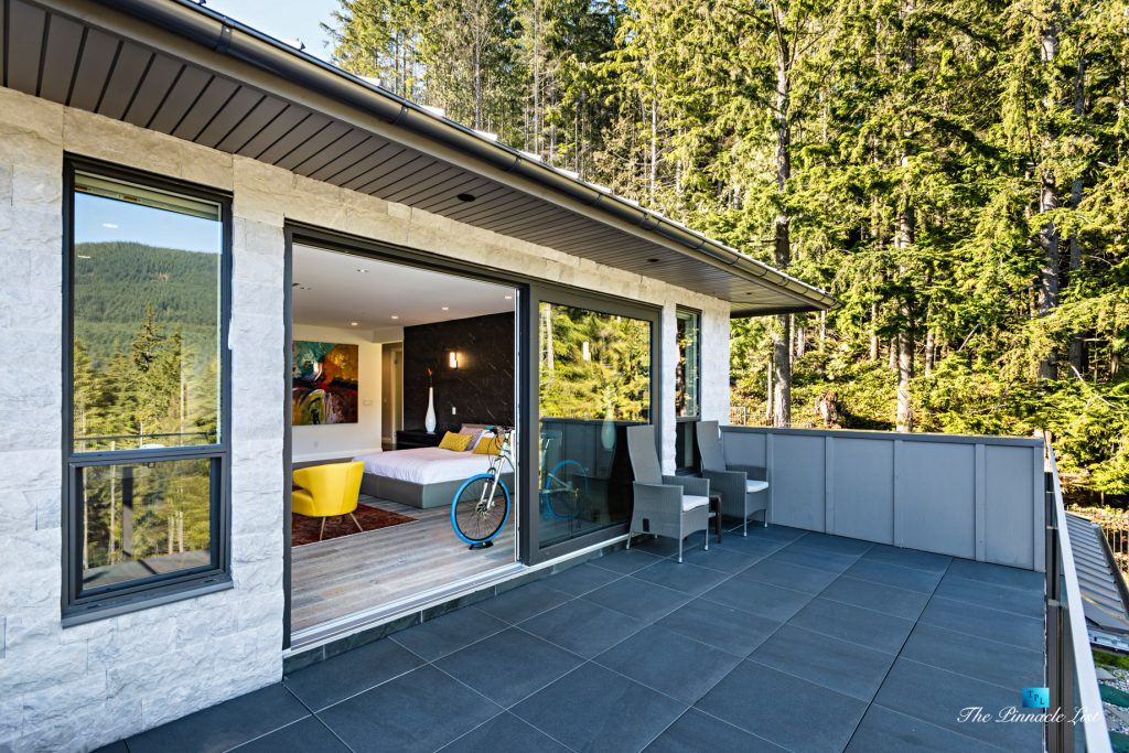 Modern West Coast Contemporary Home - 1083 Uplands Dr, Anmore, BC, Canada - Master Bedroom Deck