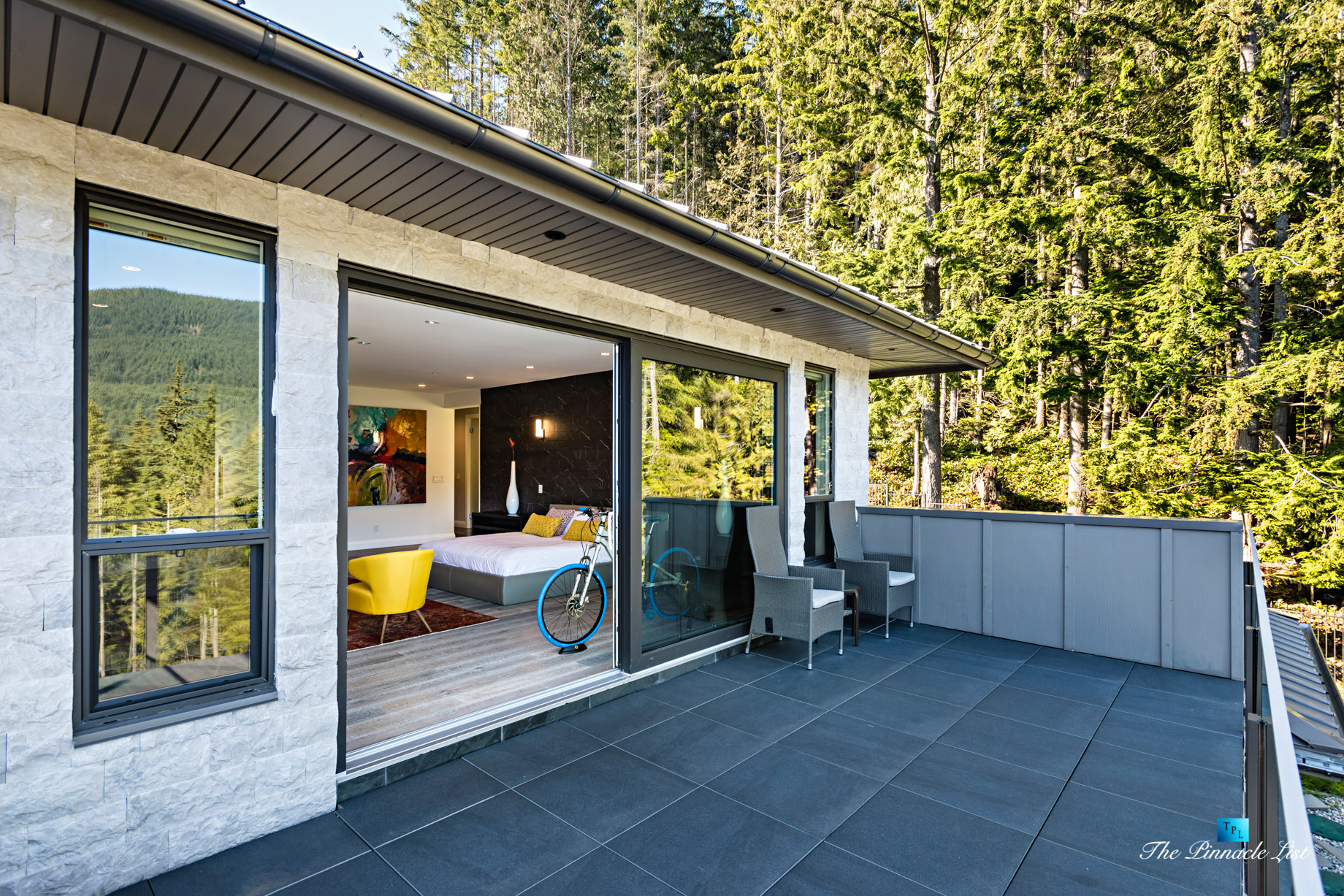 Modern West Coast Contemporary Home – 1083 Uplands Dr, Anmore, BC, Canada – Master Bedroom Deck