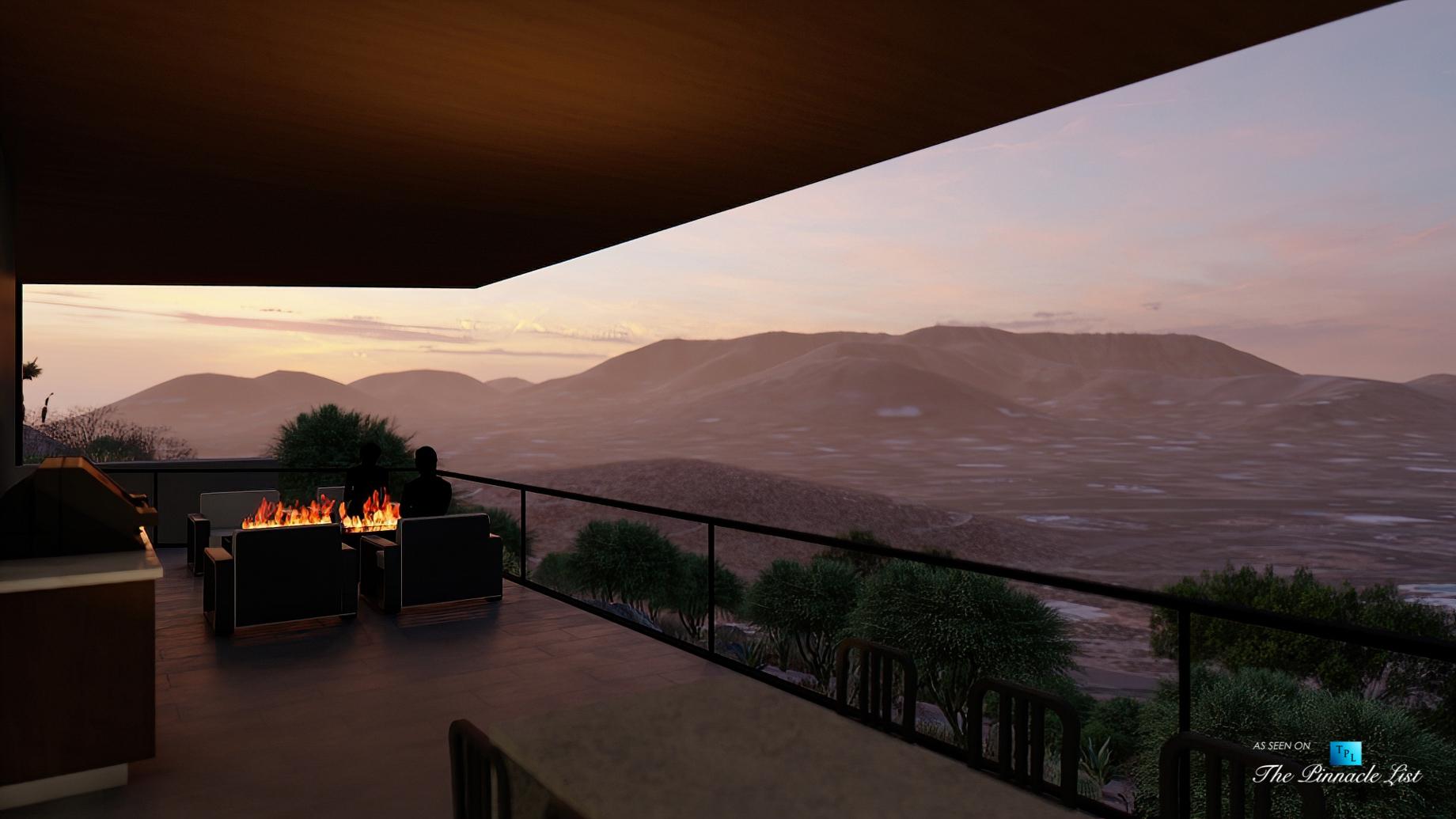 Mummy Mountain Luxury Residence - 5221 E Cheney Dr, Paradise Valley, AZ, USA - Deck Night View
