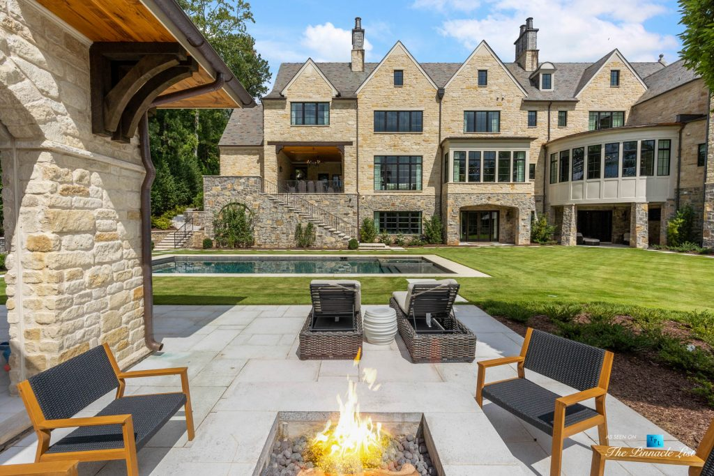 North Buckhead Luxury Estate - 1150 W Garmon Rd, Atlanta, GA, USA - Backyard Pool and Deck
