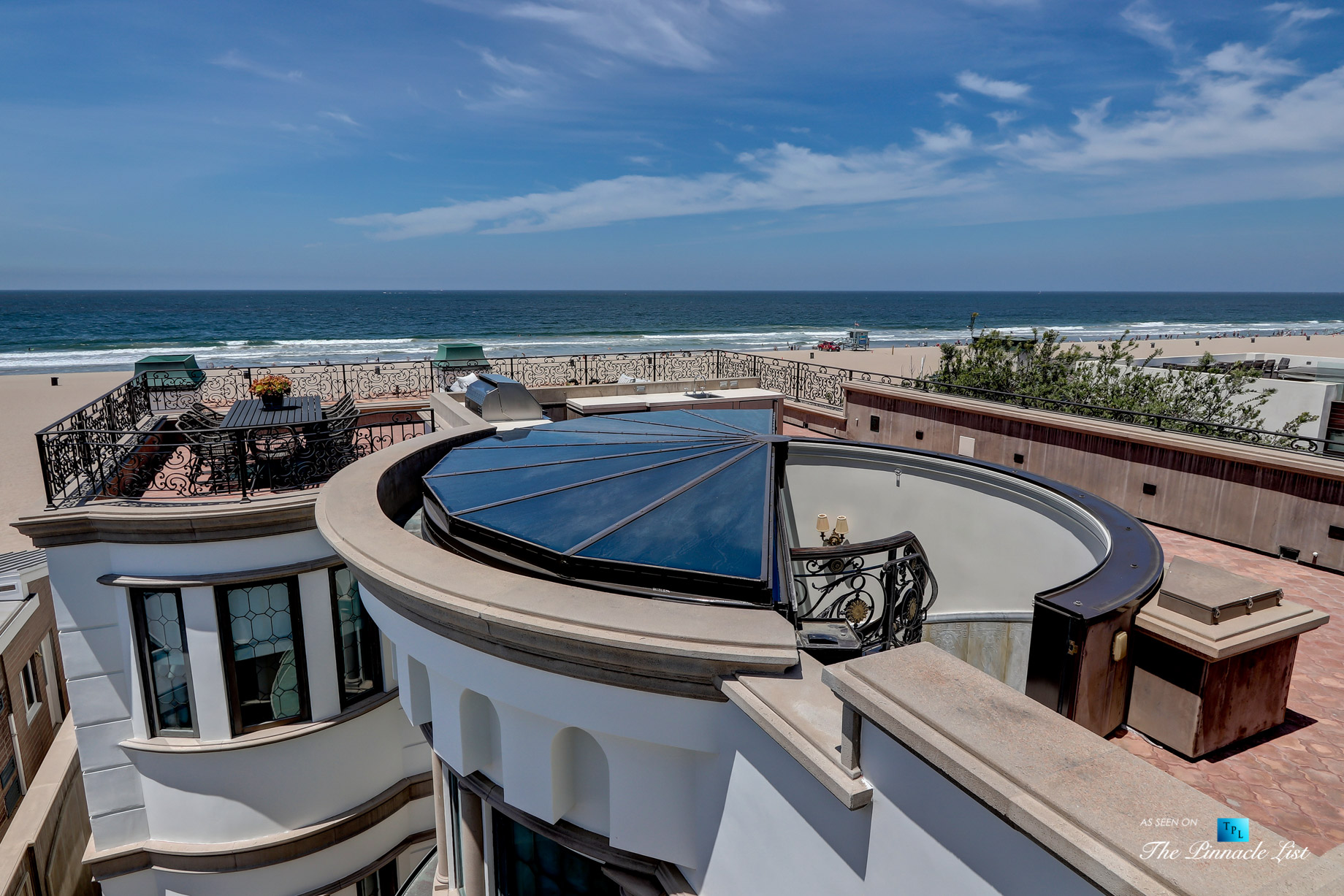 Oceanfront Luxury Living Exemplified - 2806 The Strand, Hermosa Beach, CA, USA - Roof Deck Stairs Opening