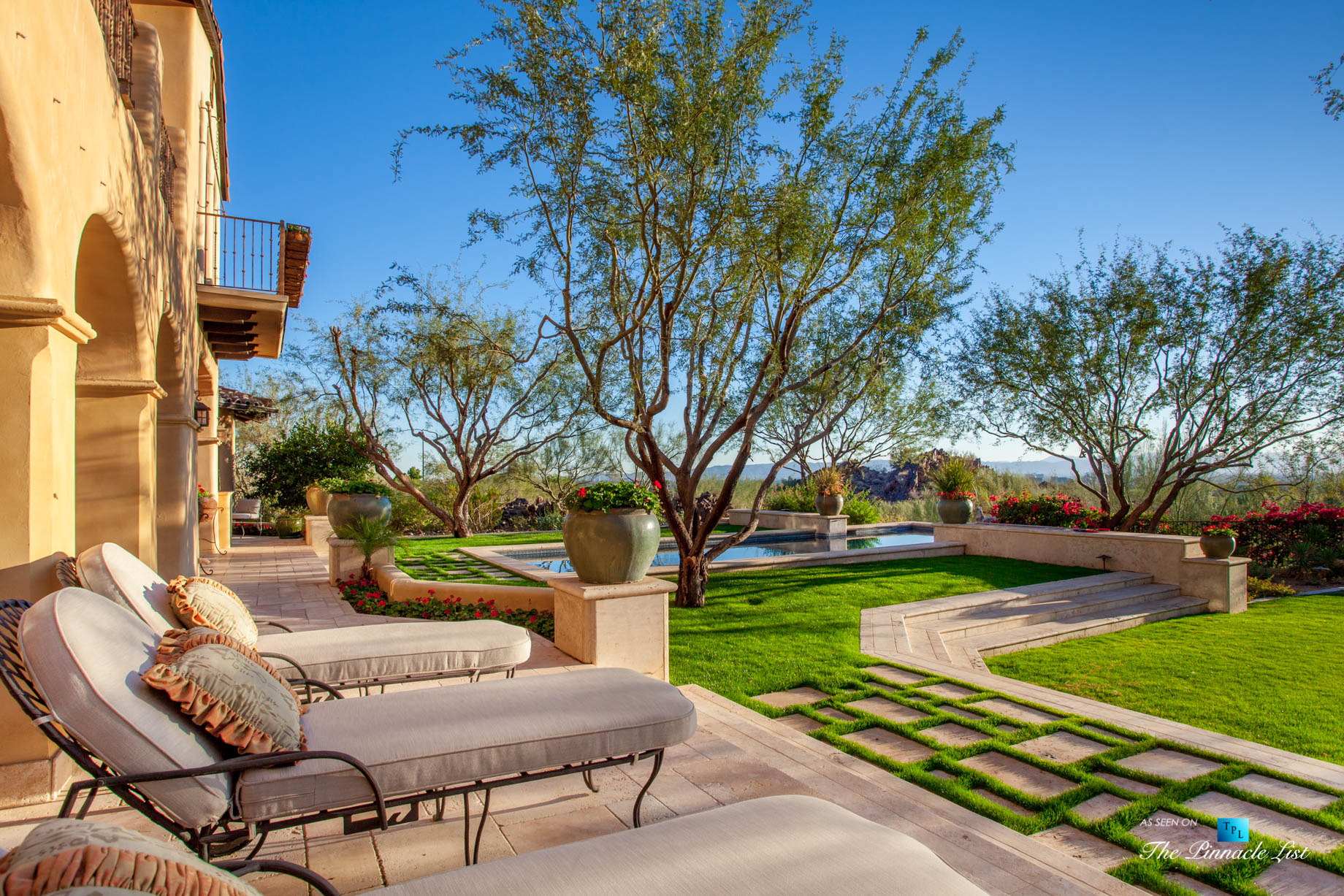 Spanish Colonial Biltmore Mountain Estate – 6539 N 31st Pl, Phoenix, AZ, USA – Pool Deck Lounge Chairs