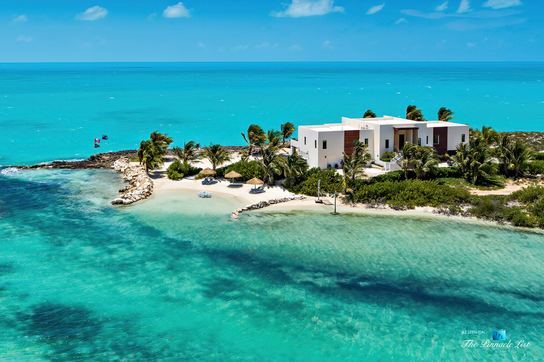 Tip of the Tail Luxury Villa – Providenciales, Turks and Caicos Islands – Property Aerial View