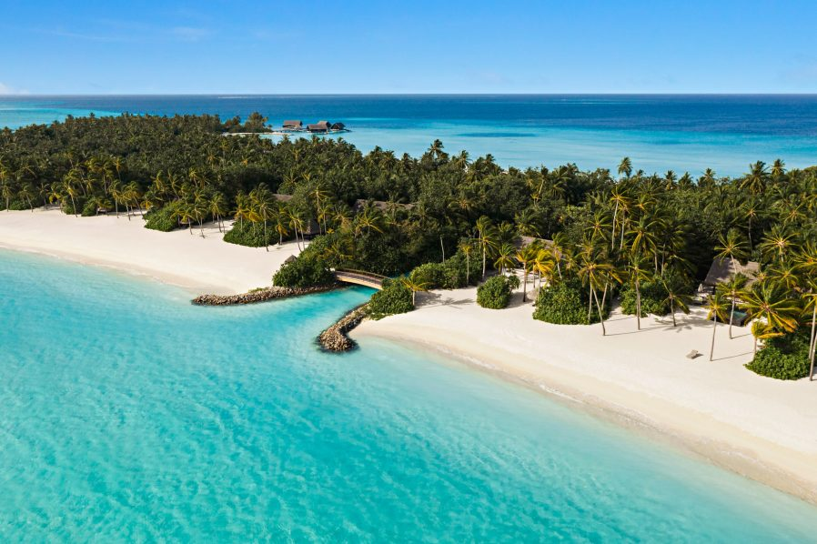One&Only Reethi Rah Luxury Resort - North Male Atoll, Maldives - Private Island Canal Aerial