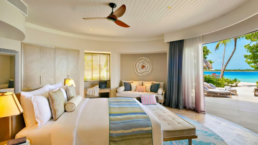 The Nautilus Maldives Luxury Resort - Thiladhoo Island, Maldives - Oceanfront Mansion Bedroom
