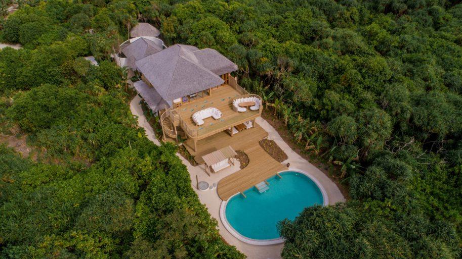 Soneva Jani Luxury Resort - Noonu Atoll, Medhufaru, Maldives - 2 Bedroom Crusoe Residence Island Villa Aerial
