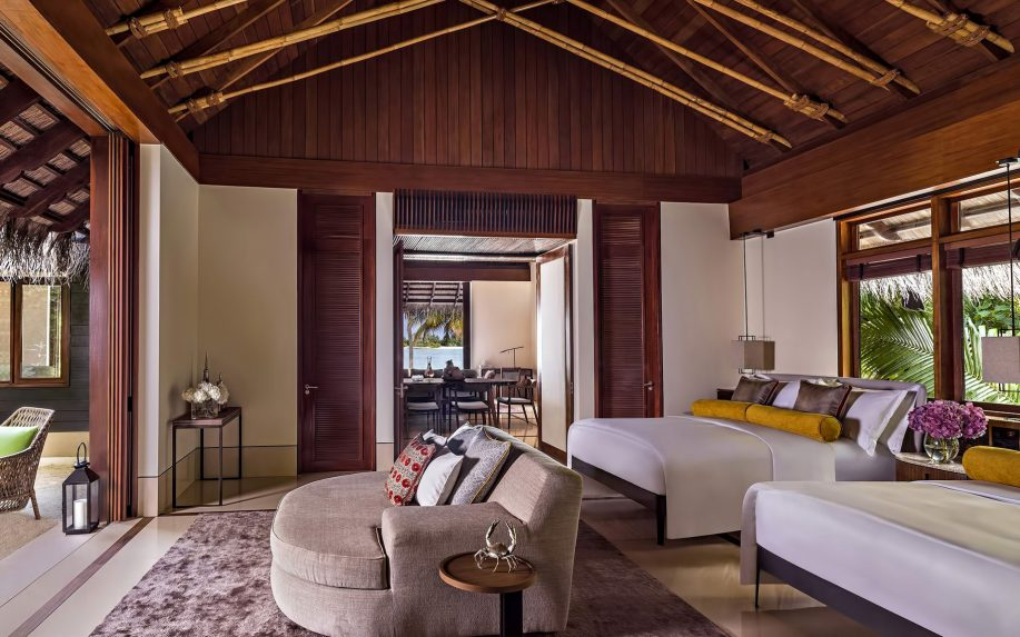 One&Only Reethi Rah Luxury Resort - North Male Atoll, Maldives - Private Island Beachfront Villa Bedroom