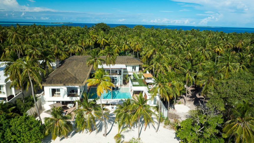Amilla Fushi Luxury Resort and Residences - Baa Atoll, Maldives - Beachfront Recidences Aerial
