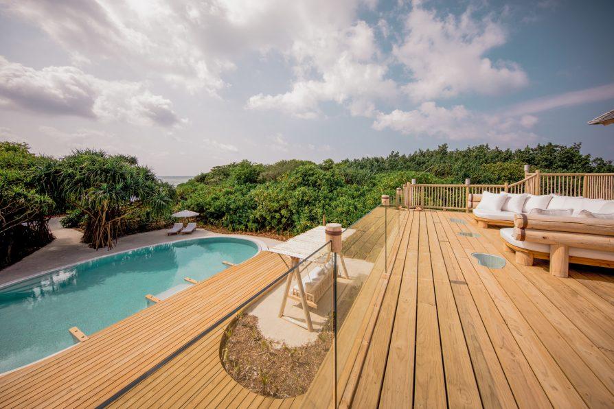 Soneva Jani Luxury Resort - Noonu Atoll, Medhufaru, Maldives - 2 Bedroom Crusoe Residence Island Villa Upper Deck Pool View