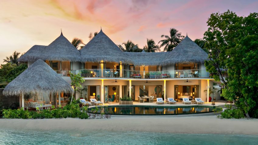 The Nautilus Maldives Luxury Resort - Thiladhoo Island, Maldives - Oceanfront Mansion Sunset