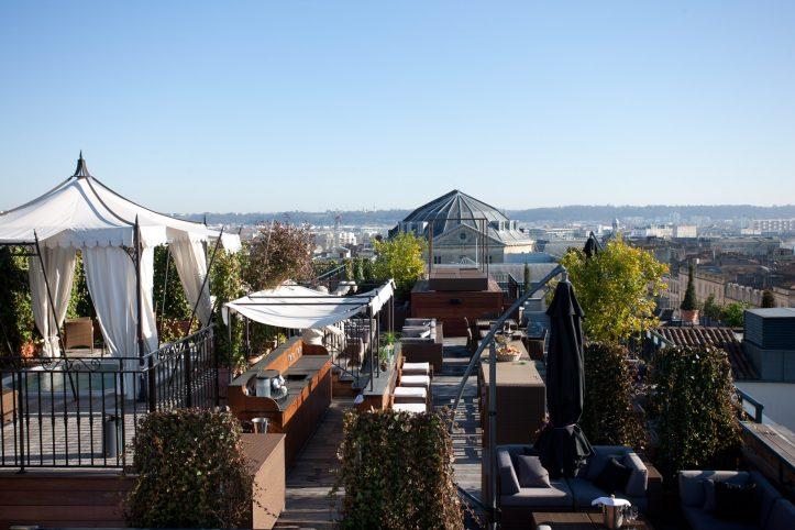 InterContinental Bordeaux Le Grand Hotel - Bordeaux, France - Rooftop Night Beach Bar