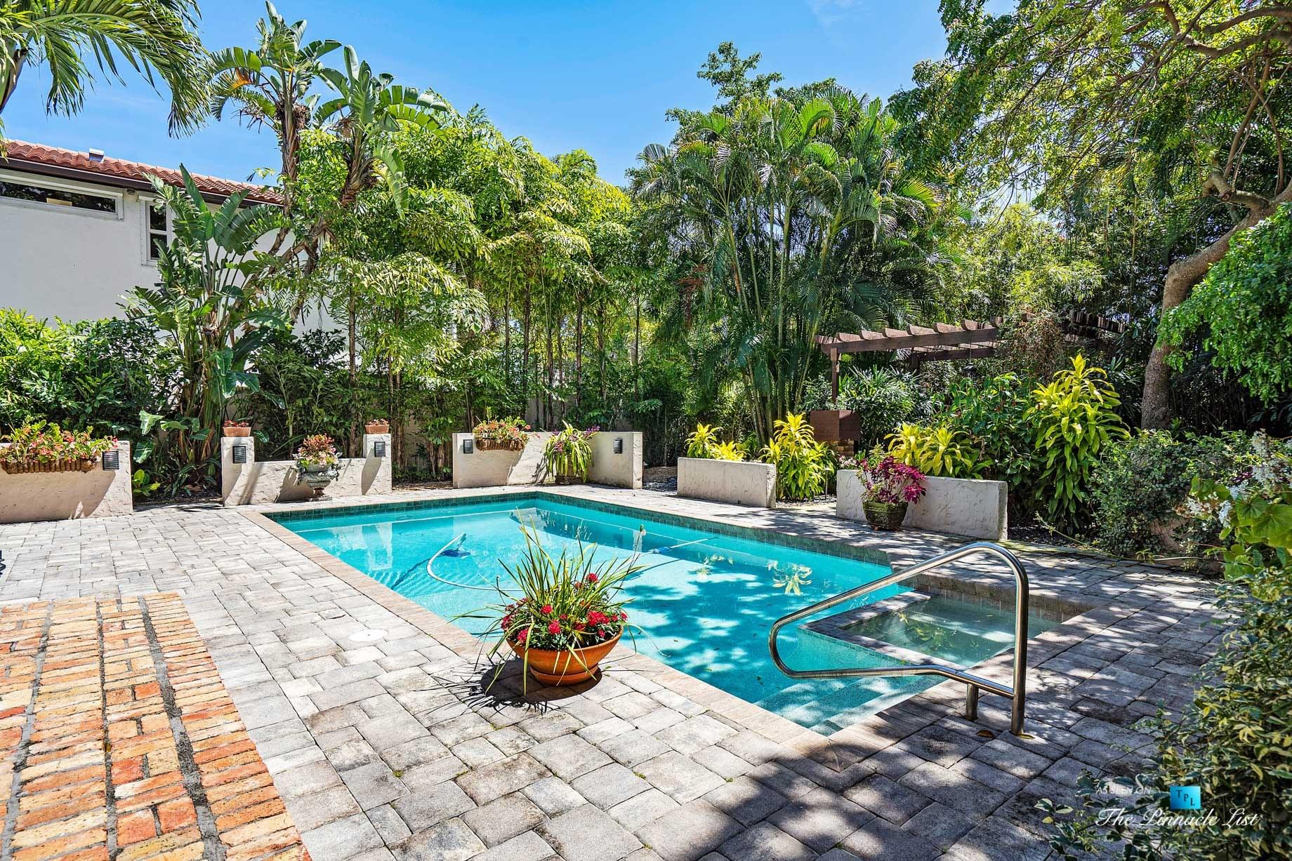Addison Mizner Old Floresta Home – 888 Oleander St, Boca Raton, FL, USA – Outdoor Pool