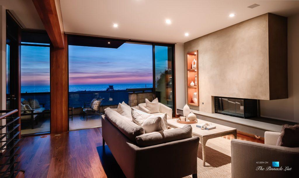 Modern Oceanfront Coastal Living - 732 The Strand, Hermosa Beach, CA, USA - Beachfront Deck Sunset