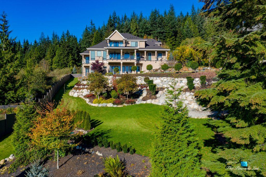 Pinnacle Ridge Luxury Estate - 2057 Ridge Mountain Dr, Anmore, BC, Canada - Aerial Backyard Property View