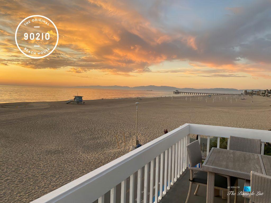 The Original 90210 Beach House - 3500 The Strand, Hermosa Beach, CA, USA - Hermosa Beach Deck Sunset