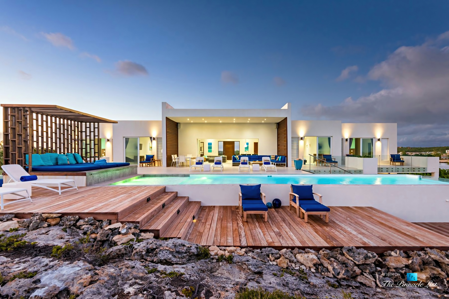 Tip of the Tail Luxury Villa - Providenciales, Turks and Caicos Islands - Sunset Deck View