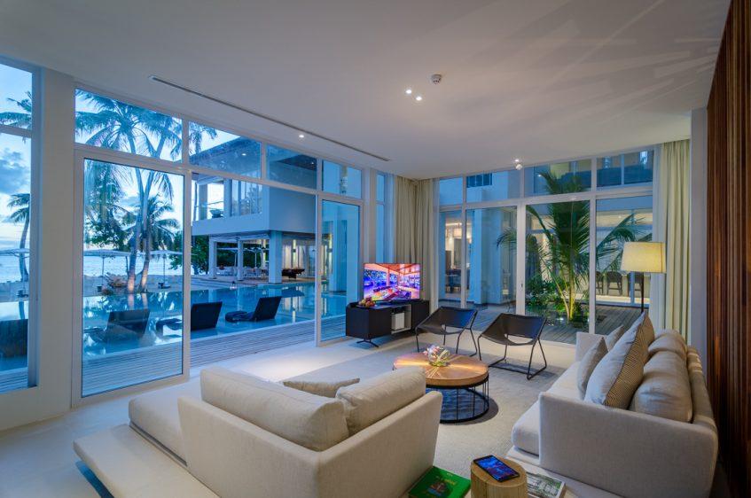 Amilla Fushi Luxury Resort and Residences - Baa Atoll, Maldives - Amilla Beachfront Estate Living Area