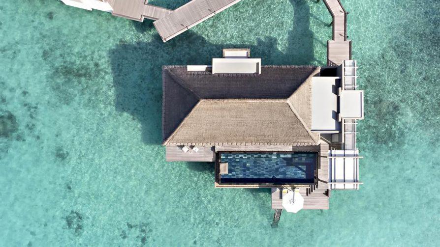 Cheval Blanc Randheli Luxury Resort - Noonu Atoll, Maldives - Garden Water Villa Overhead Aerial