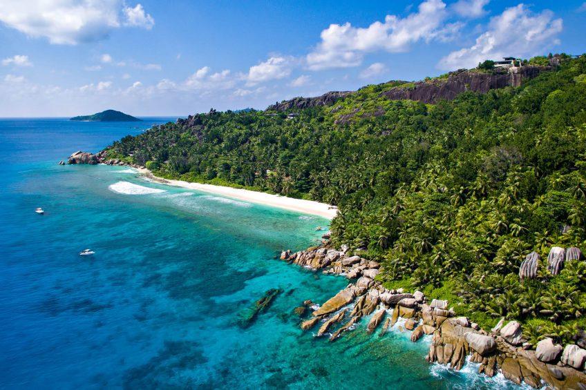 Six Senses Zil Pasyon Luxury Resort - Felicite Island, Seychelles - Island Aerial View
