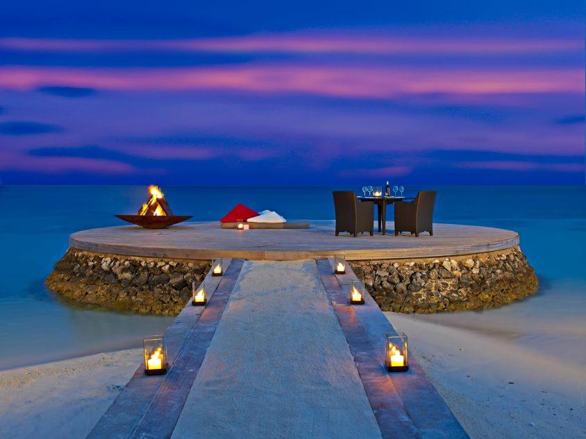 W Maldives Luxury Resort - Fesdu Island, Maldives - Private Beachfront Dining Night
