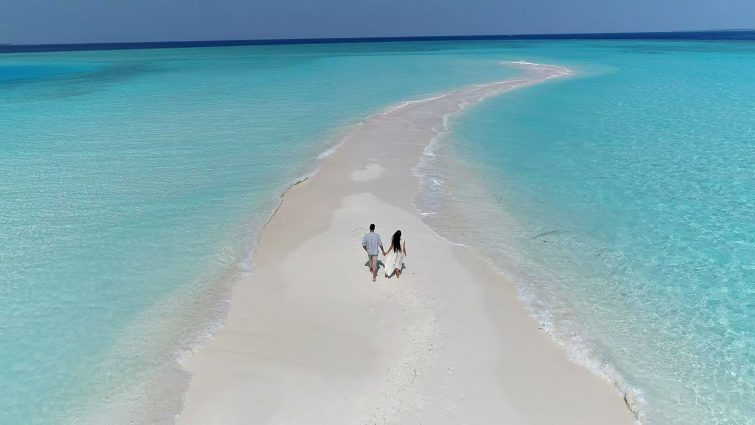 The Nautilus Maldives Luxury Resort - Thiladhoo Island, Maldives - Private White Sand Beach Path