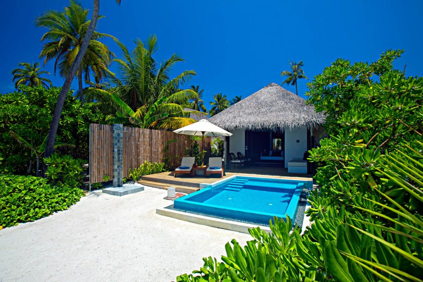 Velassaru Maldives Luxury Resort – South Male Atoll, Maldives - Beachfront Pool Chairs