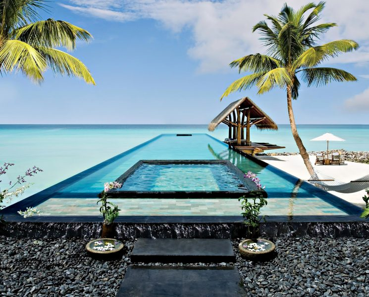 One&Only Reethi Rah Luxury Resort - North Male Atoll, Maldives - Overwater Beachfront Infinity Pool Ocean View