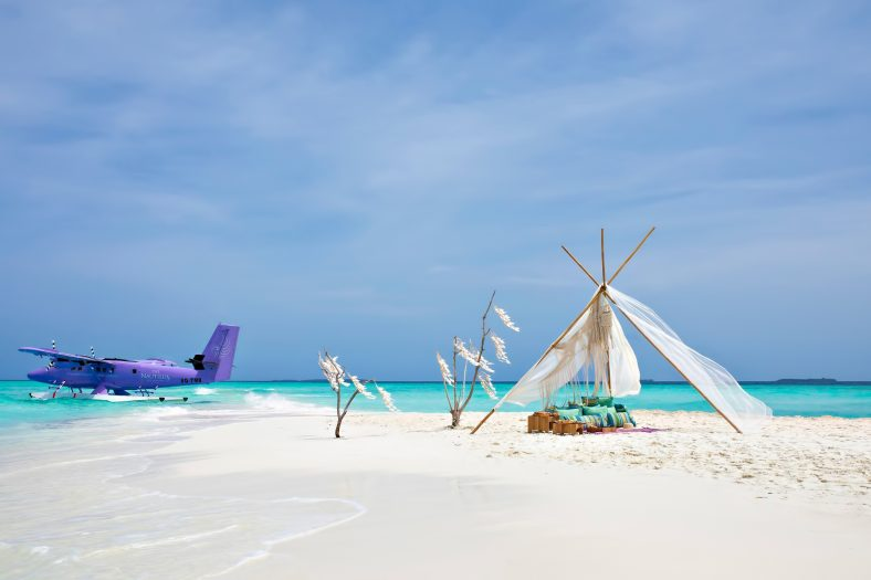 The Nautilus Maldives Luxury Resort - Thiladhoo Island, Maldives - Seaplane White Sand Beach
