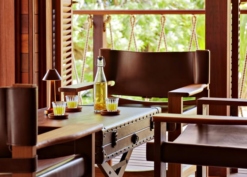 Six Senses Zil Pasyon Luxury Resort - Felicite Island, Seychelles - Rum Bar Table